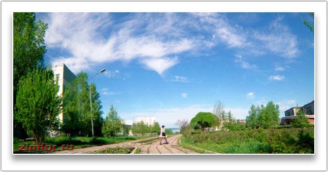 Городской пейзаж, снятый при закрытой апертуре