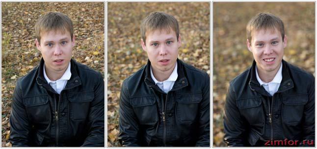 Различные значения диафрагмы при создании портрета