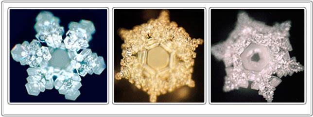 Фотографии кристаллов воды при большом увеличении