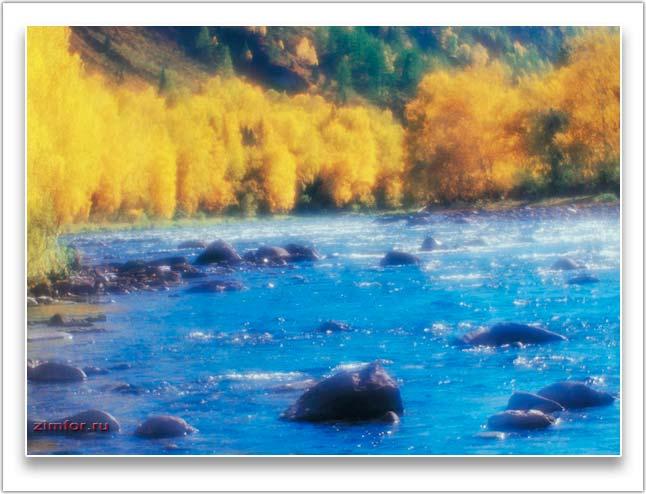 Горная река Алтая. Монокль