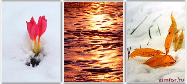 Разный баланс белого при фотосъёмке снега