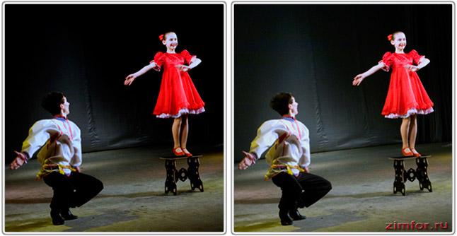 Фотосъёмка танца и баланс белого