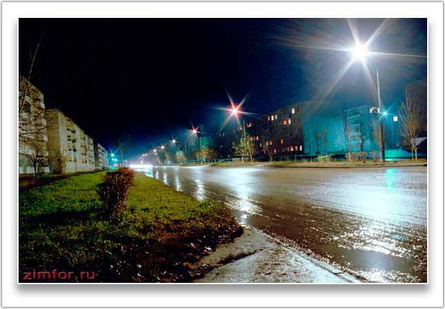 Ночная фотография города. ISO 400