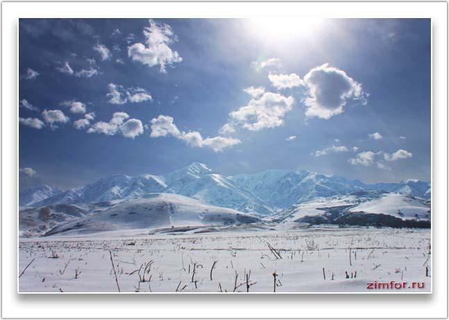 Горный зимний фото пейзаж