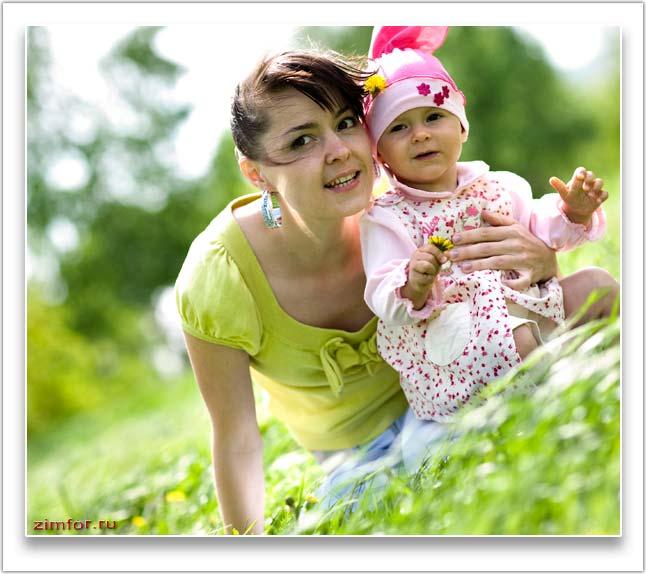Фотопортрет женщины и ребёнка