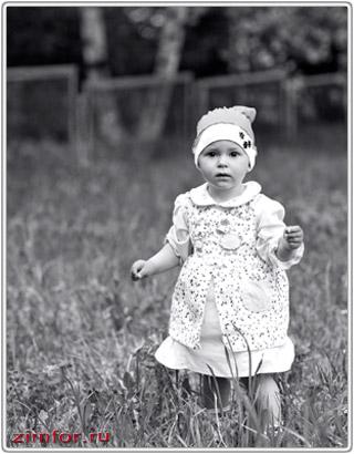 Фотография ребёнка, созданная объективом Canon EF 85 mm f/1.8 USM