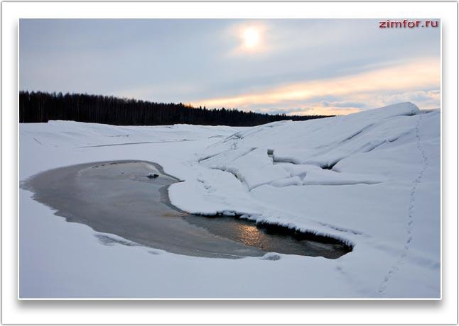 Зимний пейзаж. Фотография