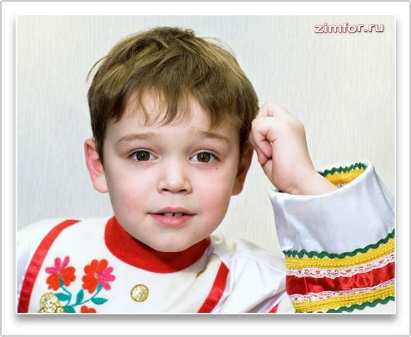 Фотопортрет мальчика крупным планом