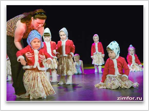 На репетиции детского танцевального коллектива