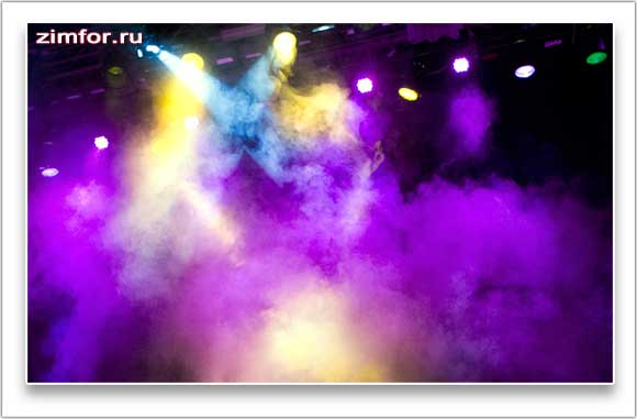 Освещение на сцене во время концерта