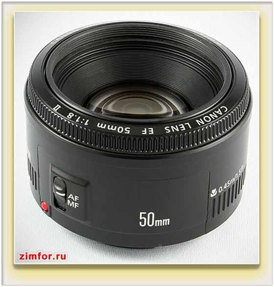 Штатный объектив Canon
